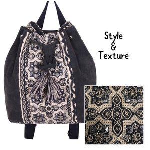 Handbags - Boho Tapestry Drawstring Backpack, NWT